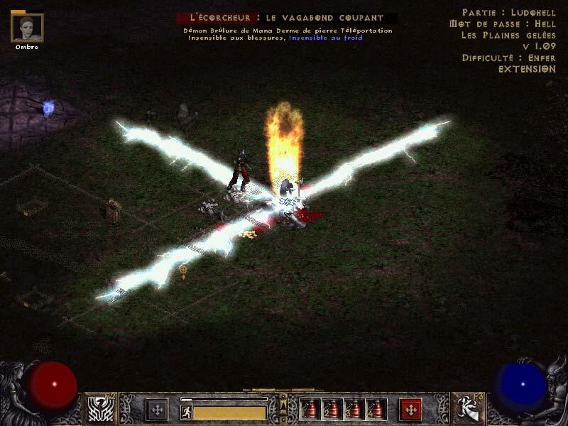 Un sort de foudre et une mort, ça peut faire un bel effet.  Screenshot envoyé par Ludovic.