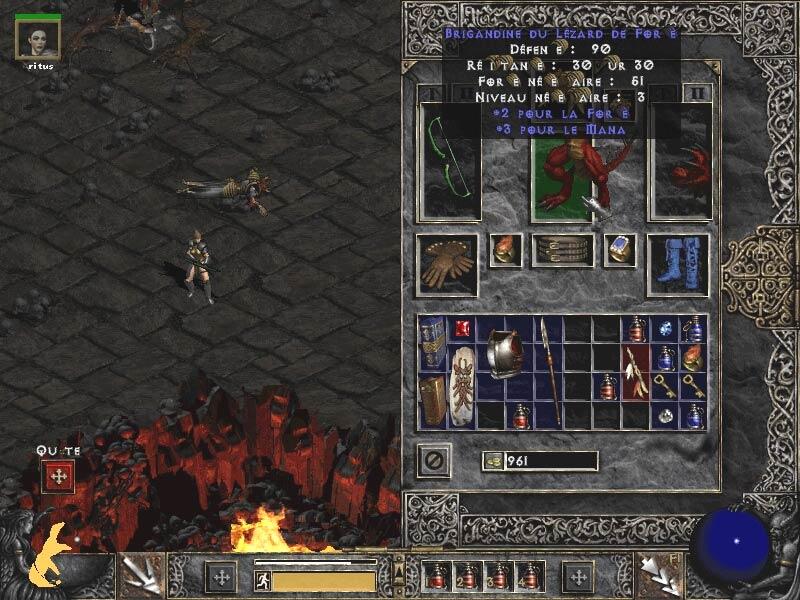 Finalement, l'armure de Diablo existe bel et bien...Screenshot envoyé par M@T Aka Enchattresse.