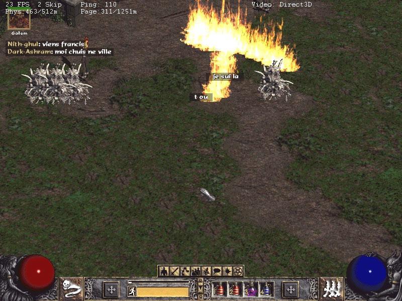 Pas facile de faire un duel dans ces conditions.  Screenshot envoyé par Kaizel.