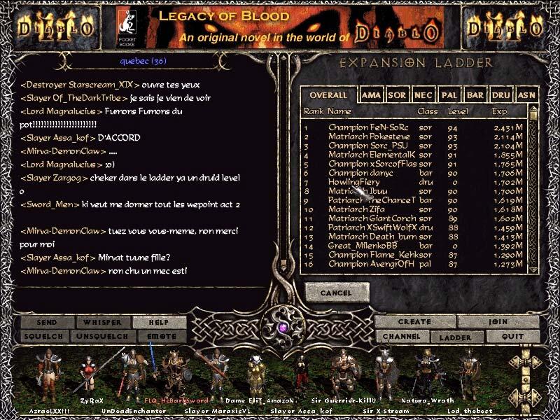 Screenshot réalisé par J-P.  Un druide level 0.  Ben voyons.  Bug...quand tu nous tiens !