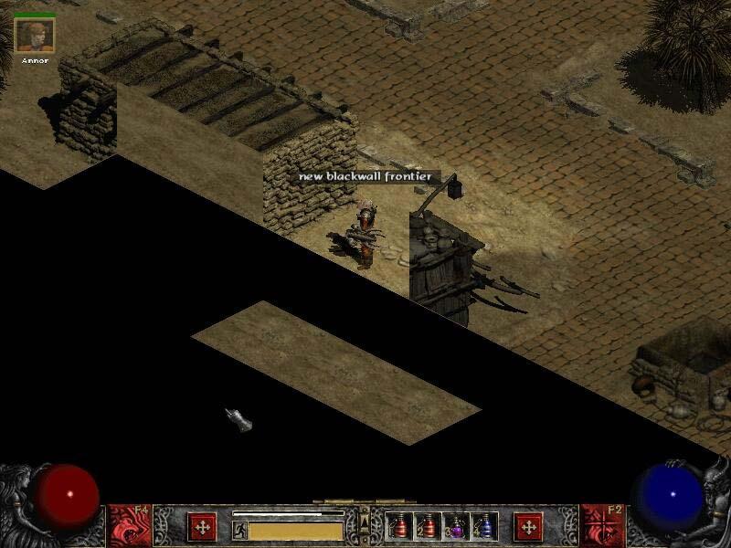 Screenshot réalisé par MetalGear.  Joli Black Wall.  Notez que l'îlot se déplaçait également.