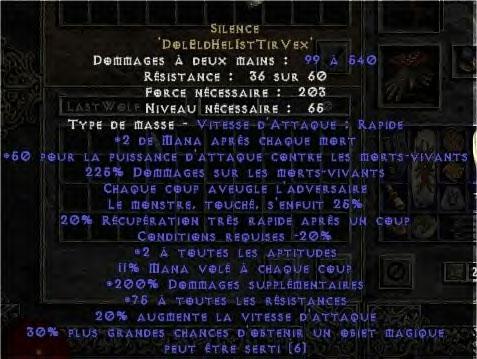 Screenshot envoyé par Deamonis